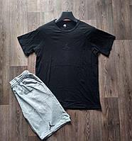 Комплект мужской  футболка и шорты Air Jordan черный