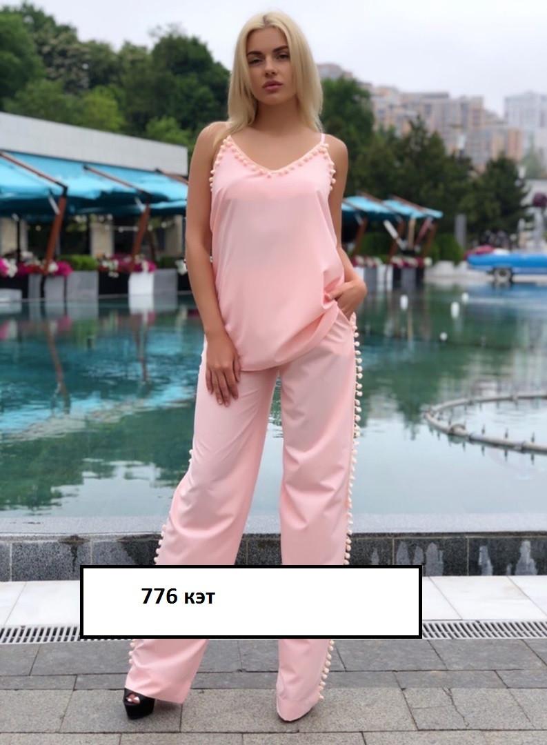Нежный женский костюм 776 кэт, разные цвета  от 42 до 52р.