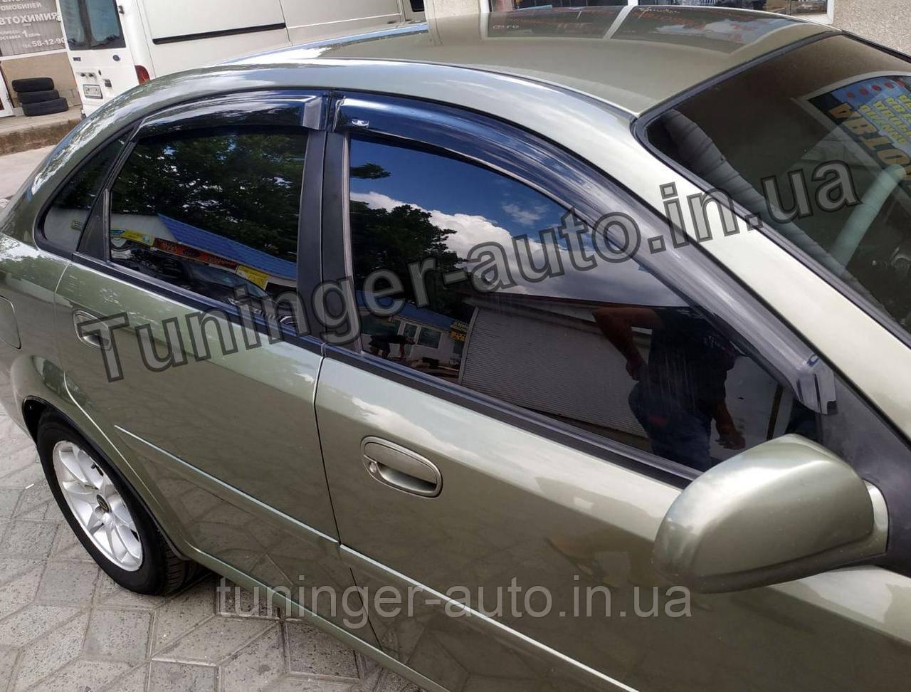 Дефлекторы окон (Ветровики) Chevrolet Lacetti 2004-2012 (Hic)