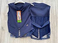 Жилетка для дівчаток. ( тканина-мадонна). 122 - 146 зростання.