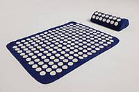 Аппликатор Кузнецова (Ляпко) массажный коврик акупунктурный с подушкой для спины/ног VMSpot (vms-007)