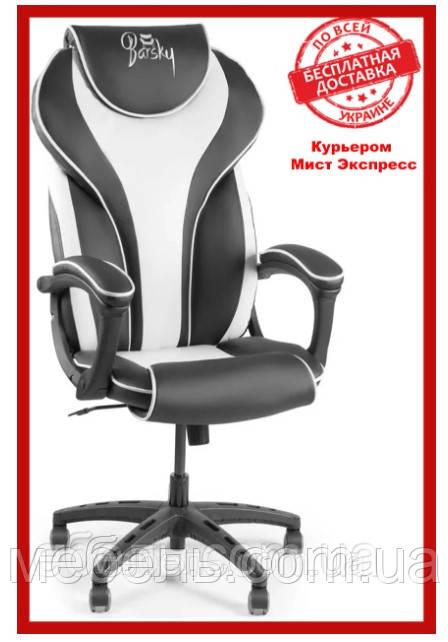 Кресло для врача Barsky BSD-04 Sportdrive White Arm_pad Tilt PA_designe, черный / белый