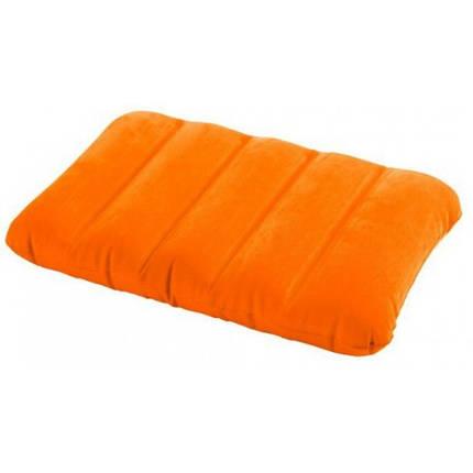 Подушка надувная Intex Pillow оранжевая 43х28х9 см, фото 2