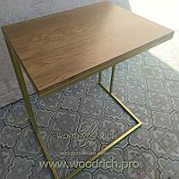 Приставной столик деревянный
