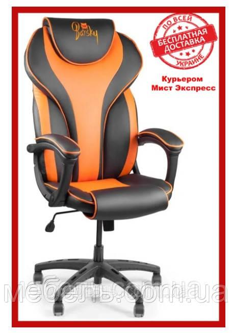 Кресло для работы дома Barsky BSD-05 Sportdrive Orange Arm_pad Tilt PA_designe, черный / оранжевый