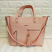 Женская сумка шопер летняя большая (розовая)