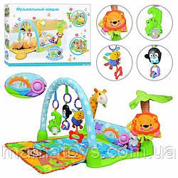 Детский Развивающий коврик для малышей 7181 (63503) Умный малыш от 0 до 12 месяцев Размер 85-60-40 см