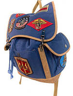 Оригинальный рюкзак Top Gun Canvas Backpack With Patches TGB2001 (Blue), фото 1