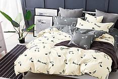 Семейный комплект постельного белья сатин (14970) TM КРИСПОЛ Украина