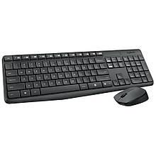 Комплект клавиатура + мышь беспроводной USB Logitech MK235 (920-007948) т.серый + черный новый