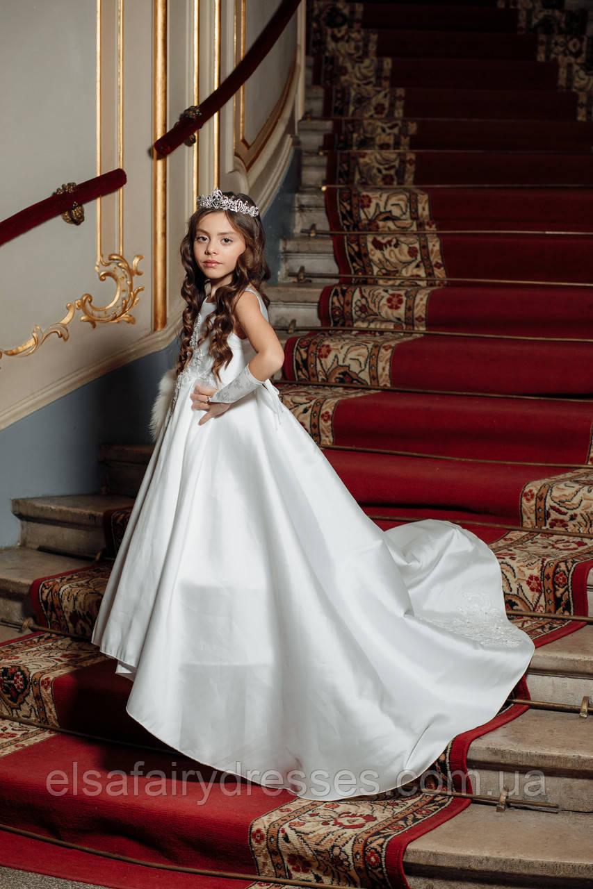"""Модель """"KATRIN ROYAL """" - дитяча сукня / детское платье со шлейфом"""