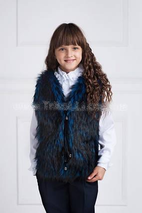 Детская меховая жилетка, фото 2