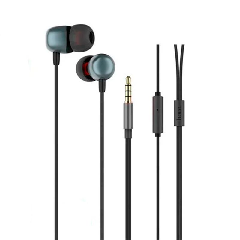 Наушники гарнитура проводные с микрофоном Hoco M31 Delighted Sound стерео вакуумные спортивные серые