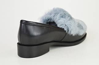 Туфли кожаные с мехом кролика Lottini, фото 3