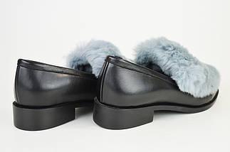 Туфли кожаные с мехом кролика Lottini, фото 2