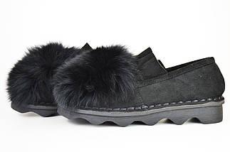 Туфли женские с мехом песца Veritas 201, фото 2