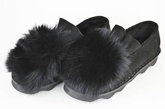 Туфли женские с мехом песца Veritas 201, фото 3