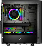 Корпус 1stPlayer D8-A-R1 Color LED Black без БП, фото 3