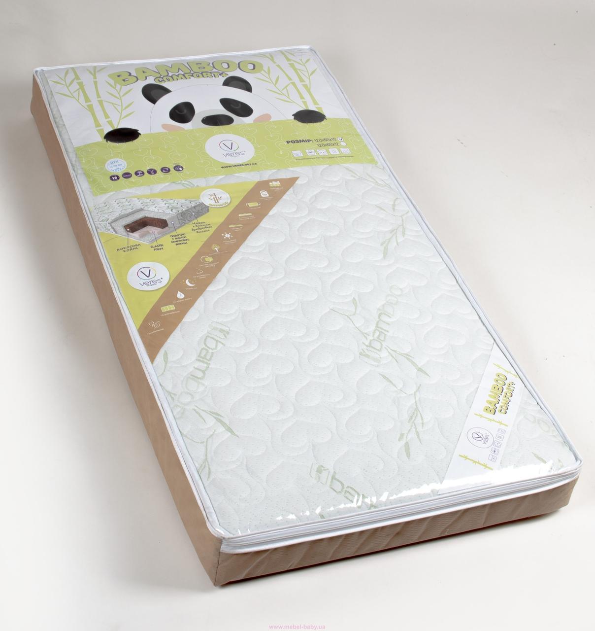 Матрас Veres Bamboo Comfort +. 2х сторонний детский матрас (120*60*10 см) с дефектом