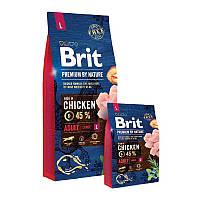 Сухой корм Корм Brit Premium by Nature (Брит Премиум) ADULT L для взрослых собак крупных пород, Выбор: 15 кг