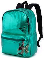 Молодіжний міський рюкзак зелений для дівчини Winner One для підлітка (253)
