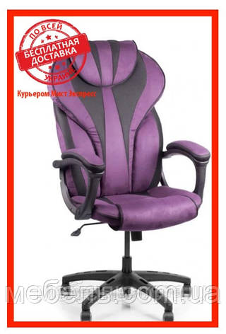 Кресло для работы дома Barsky BSD-07 Sportdrive Blackberry Fibre Arm_pad Tilt PA_desinge, фиолетовый, фото 2