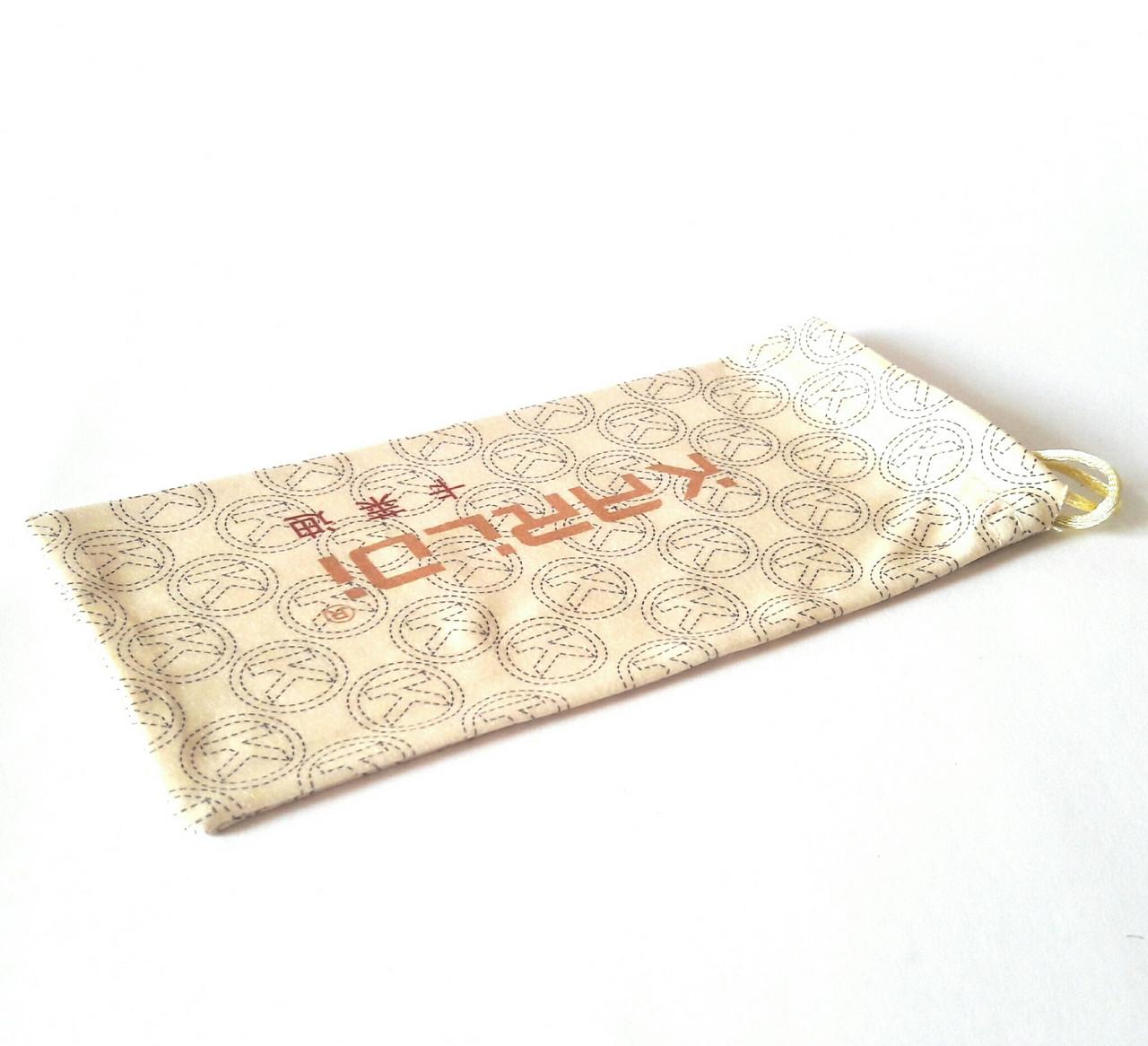 Мешочек для очков солнцезащитных, диоптрийных, чехол мягкий, янтарного цвета, с принтом, унисекс