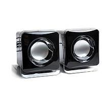 Акустическая система 2.0 5W TRY Sound D-02B USB черная новая гарантия 12мес!