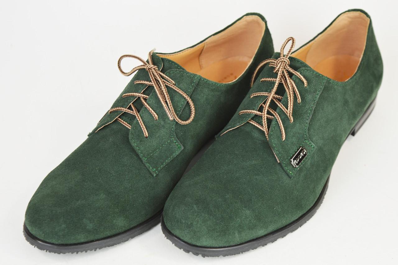 Жіночі зелені замшеві туфлі Kento 1063