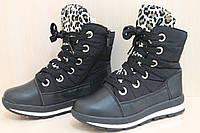 Теплые дутики на девочку, подростковая зимняя обувь, черные сапожки тм Tomm р.33,37,38