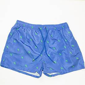 Мужские пляжные шорты для купания (арт. 20154) голубые L