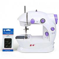 Швейная машинка портативная Mini Sewing Machine Fhsm 202 с адаптером 10 ват