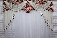 Ламбрекен из плотной ткани №68 Код: 068л062(А), фото 1