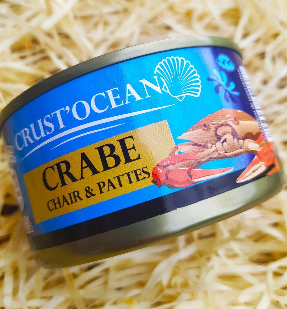 Краби консервовані Crust'Ocean 200 г Франція