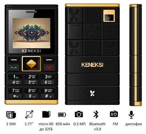 Мобільний телефон KENEKSI ART (M1) Dual Sim Black, фото 2