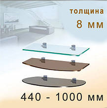 Стеклянные полки для предметов быта и интерьера - 8мм