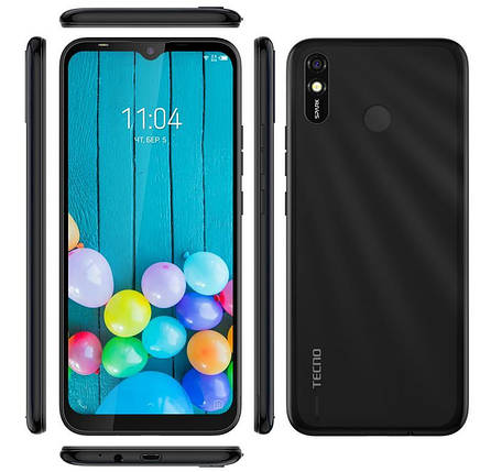 Смартфон TECNO Spark 4 Lite (BB4k) 2/32Gb Dual SIM Midnight Black, фото 2