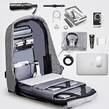 Городской рюкзак Bobby Антивор с usb-портом xd design (бобби умный городской рюкзак для ноутбука), фото 5