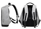 Городской рюкзак Bobby Антивор с usb-портом xd design (бобби умный городской рюкзак для ноутбука), фото 6