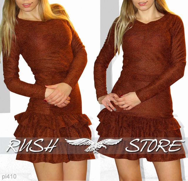 Жіноче демісезонне сукню з рюшами