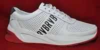 АКЦИЯ! Кроссовки из натуральной кожи летние осенние белые с перфорацией. Размеры 40, 41, 42, 43, 44, 45.