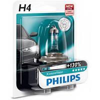 Лампа галогенная Philips H4 X-treme VISION +130%, 1шт/блистер 12342XV+B1