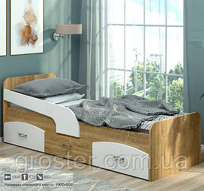 Дитяче та підліткове ліжко Мілка з ящиками