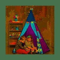 Ігровий намет-вігвам - ФІОЛЕТОВИЙ ТІПІ (світло, 100х100х140 см) BX1545Z