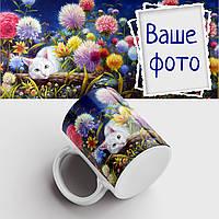 Кружка с Вашим фото. Чашка с фото цветы, кот. Чашка с фото, фото 1