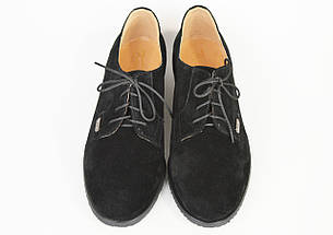Женские замшевые туфли Kento 1063 черные, фото 3