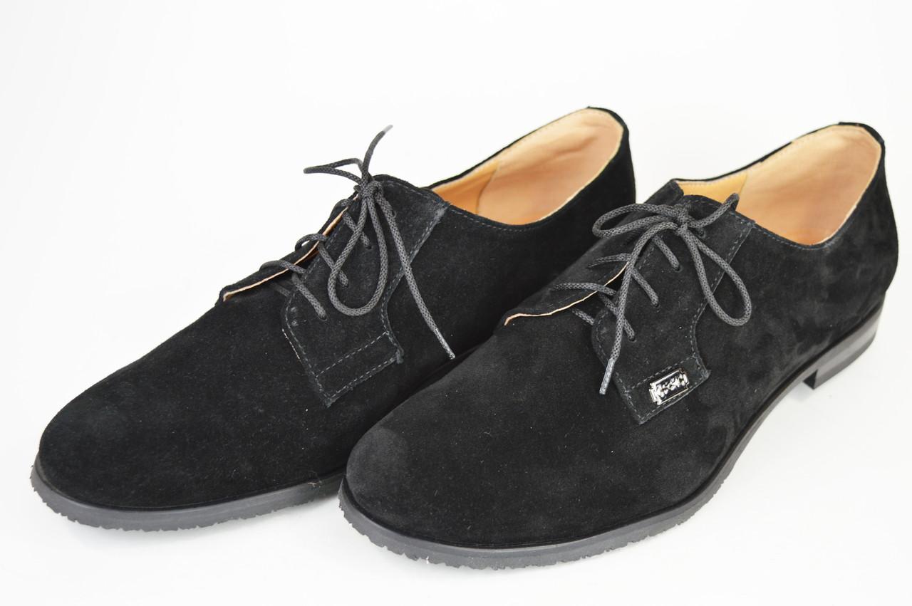 Женские замшевые туфли Kento 1063 черные