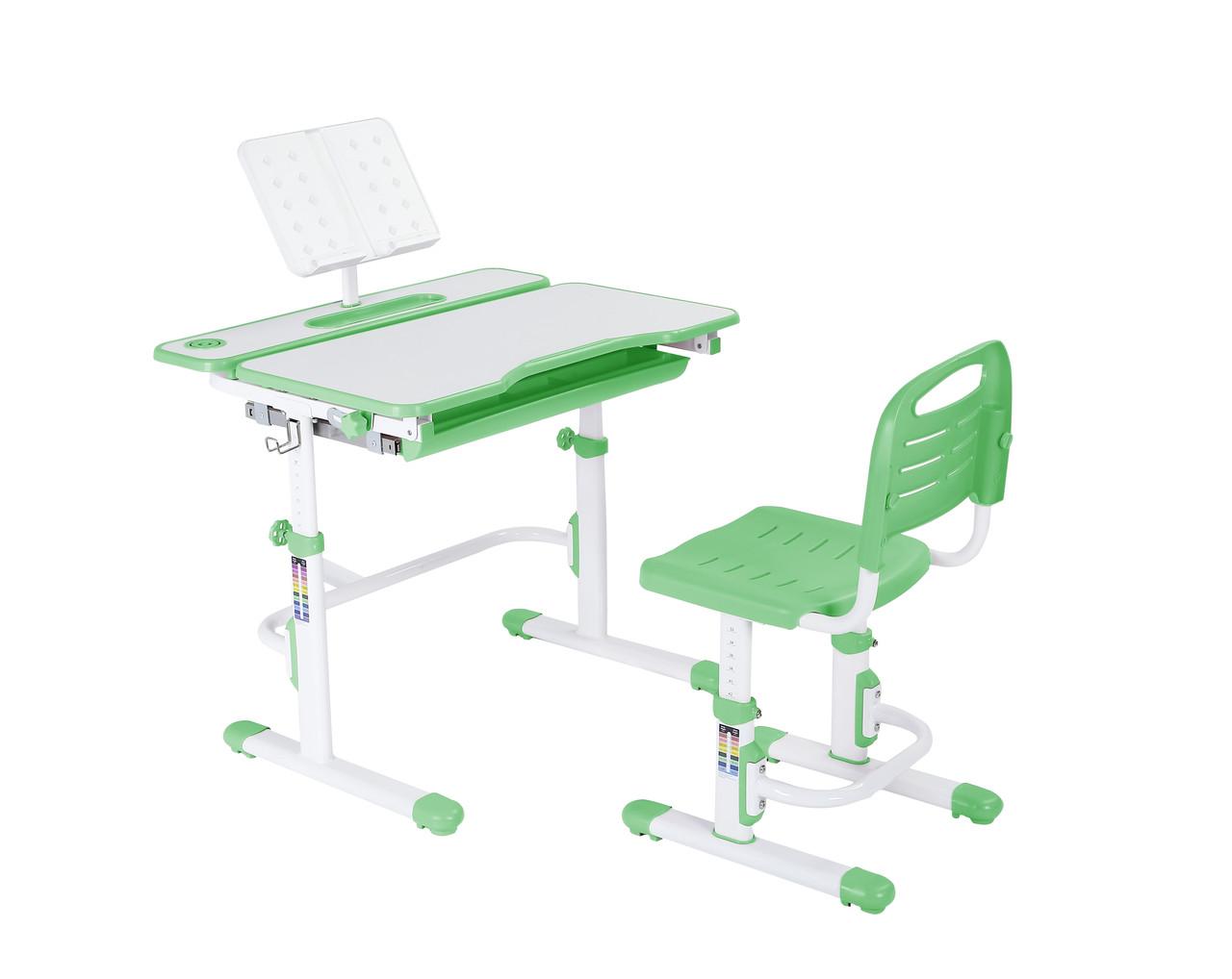 Эргономический комплект Cubby парта и стул-трансформеры Botero Green - ОПТОМ ДЛЯ ШКОЛ