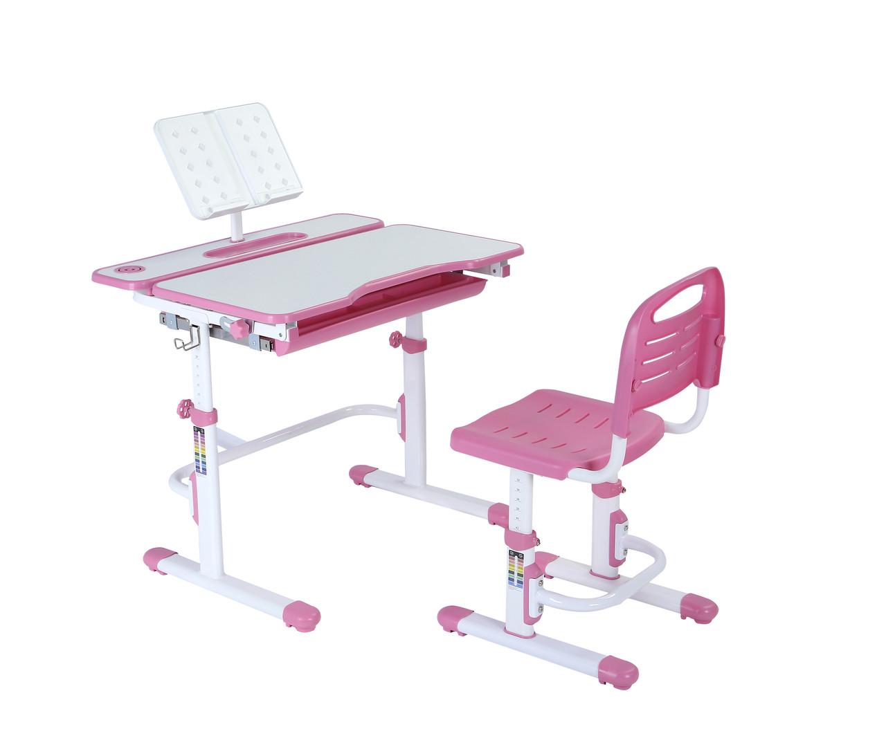 Эргономический комплект Cubby парта и стул-трансформеры Botero Pink - ОПТОМ ДЛЯ ШКОЛ