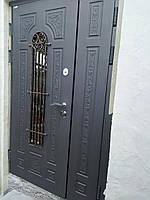 Двери входные металлические полуторные модель Алисия